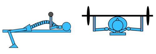 ③前腕の角度が床に対して垂直になっていない